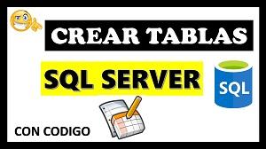 crear tabla en sql