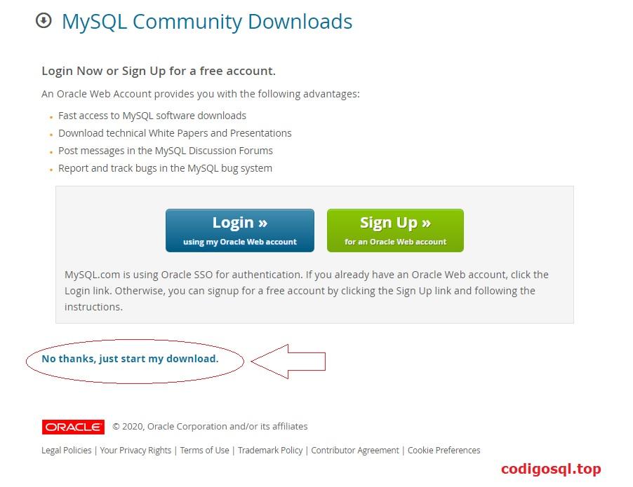 como descargar mysql gratis