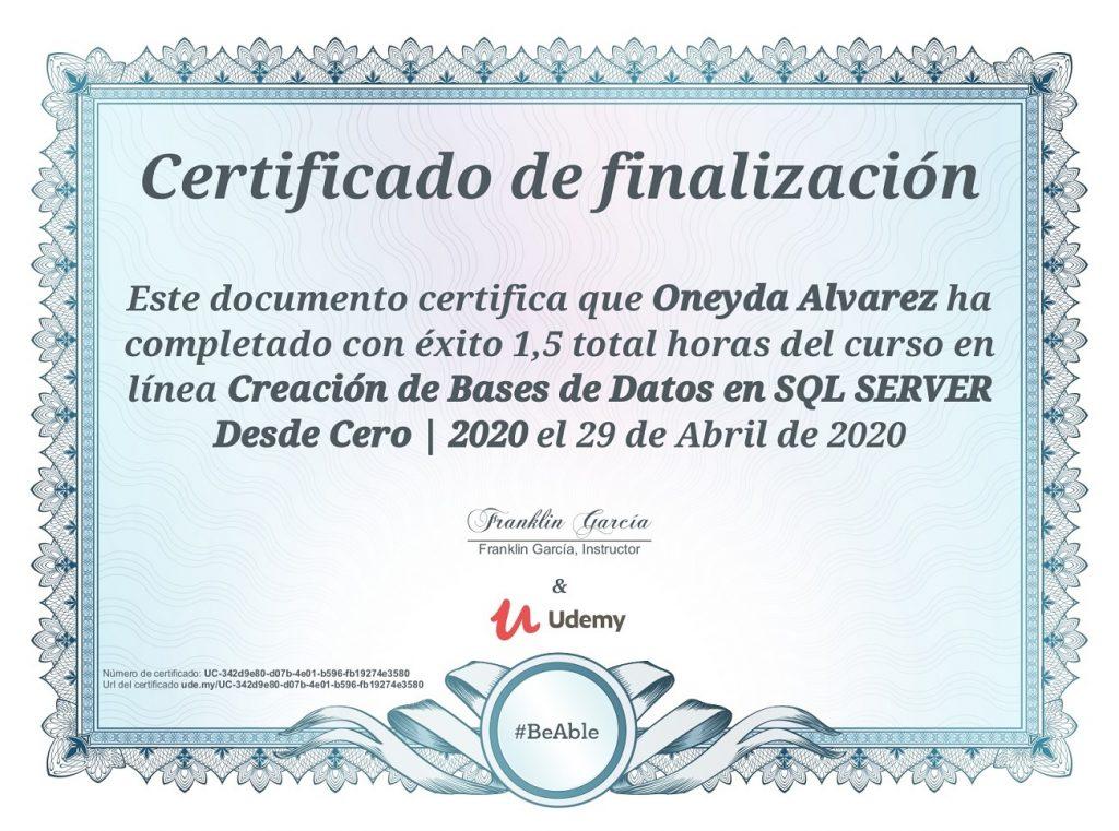 curso de base de datos en sql server
