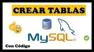como crear tablas en mysql